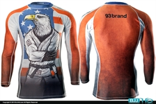 Today on BJJHQ 93 Brand X Meerkatsu American Eagle Rashguard - $35